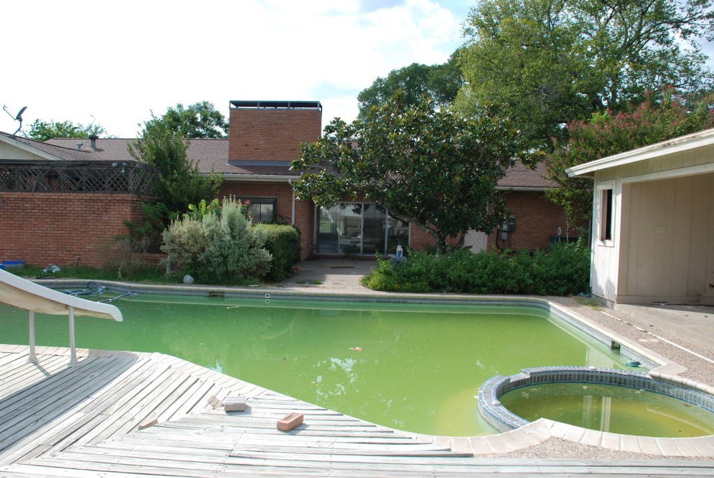 this is our pool, before