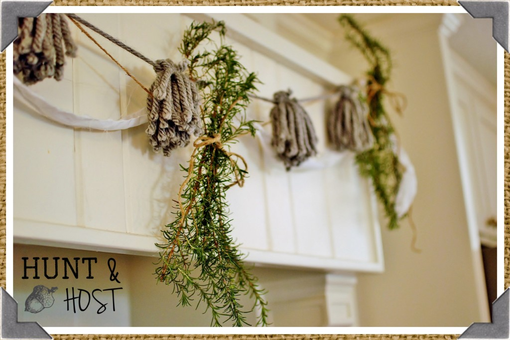 rosemary garland décor from your yard