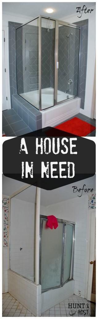 house in need bathroom transformation