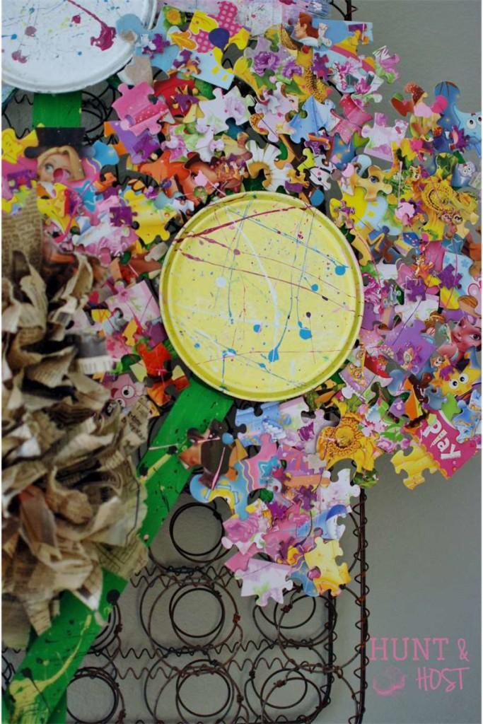 puzzle paint flower