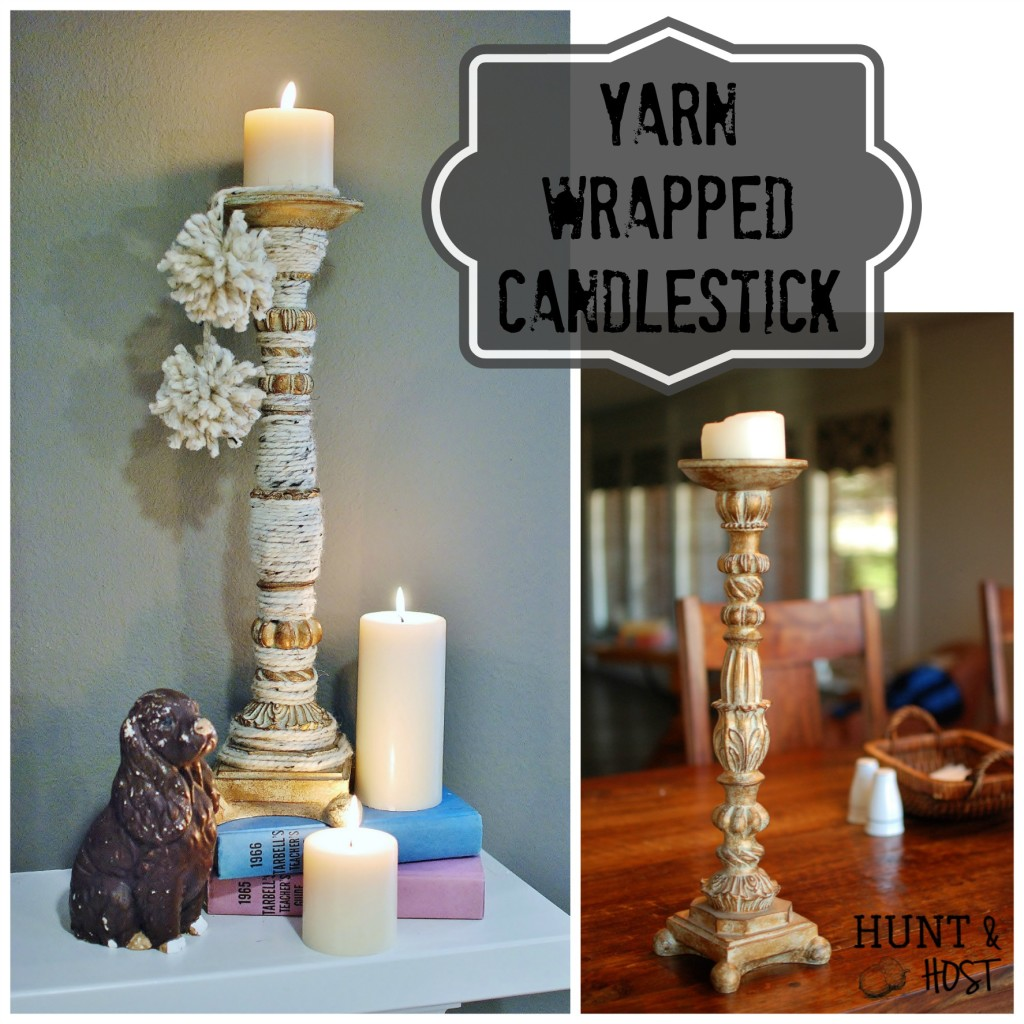 yarn wrapped candlestick tassels