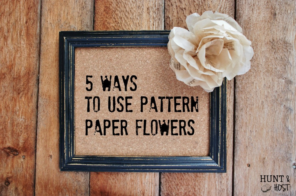 How to mkae paper flowers from old sewing patterns
