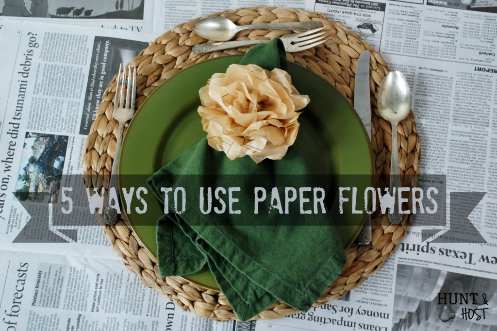 How to make paper flowers out of old sewing patterns plus 5 ways to use paper flowers