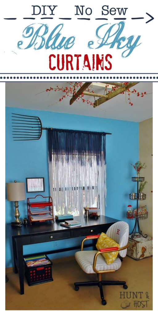 diy blue sky curtains