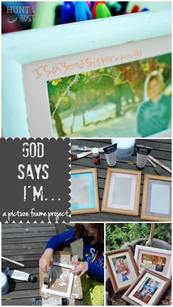 god says DIY picture frame