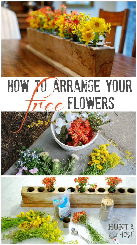 how to arrange free flowers