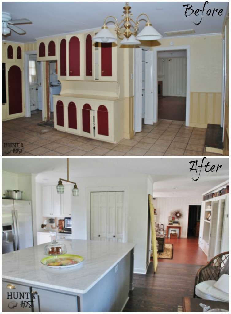 Before and After Home Tour of a run down 1951 ranch restored to life by www.huntandhost.net