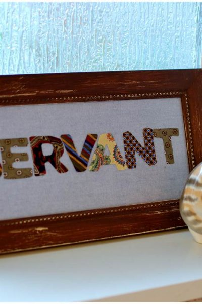one word necktie art diy