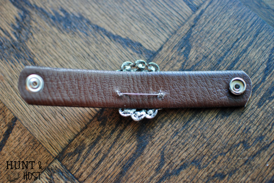 ladies pins make beautiful cuff bracelets