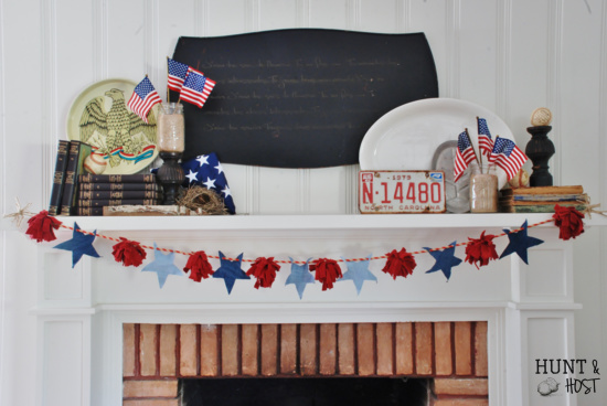 July 4th mantel diy
