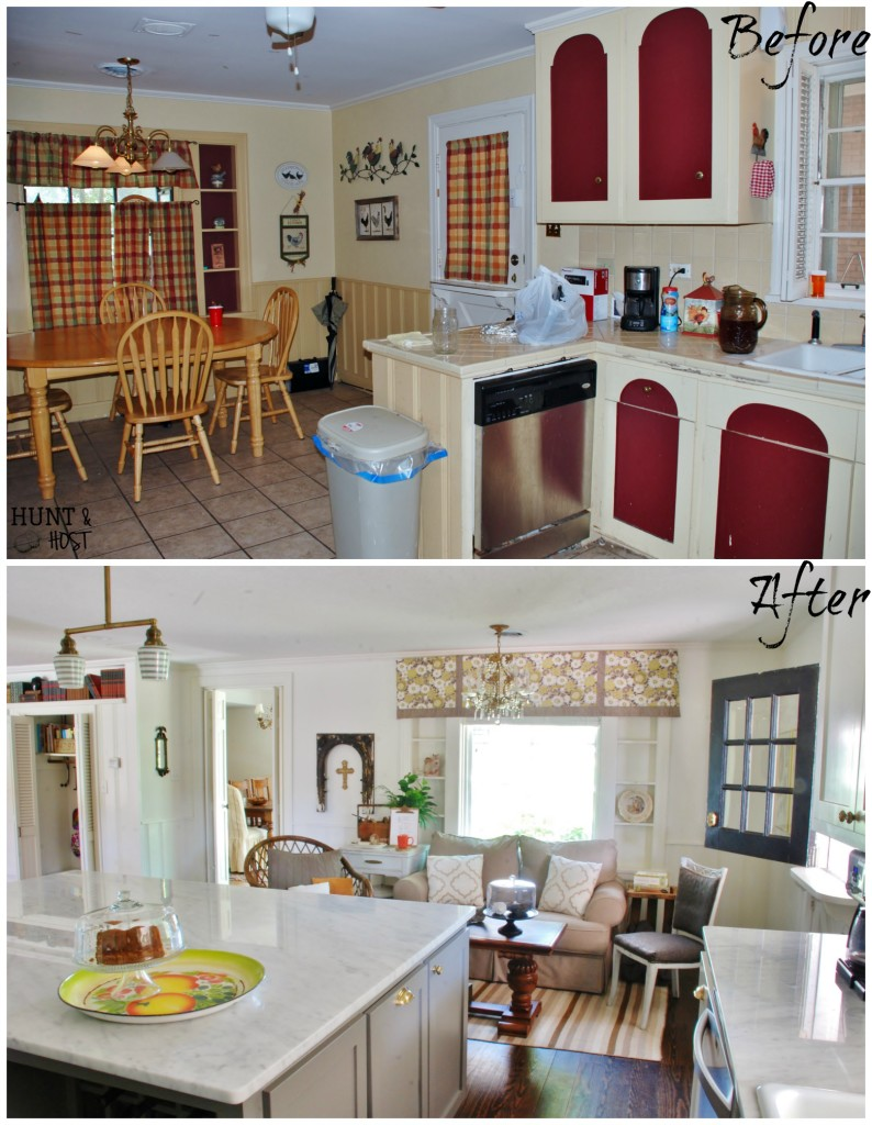 hunt and host before and after home tour link up