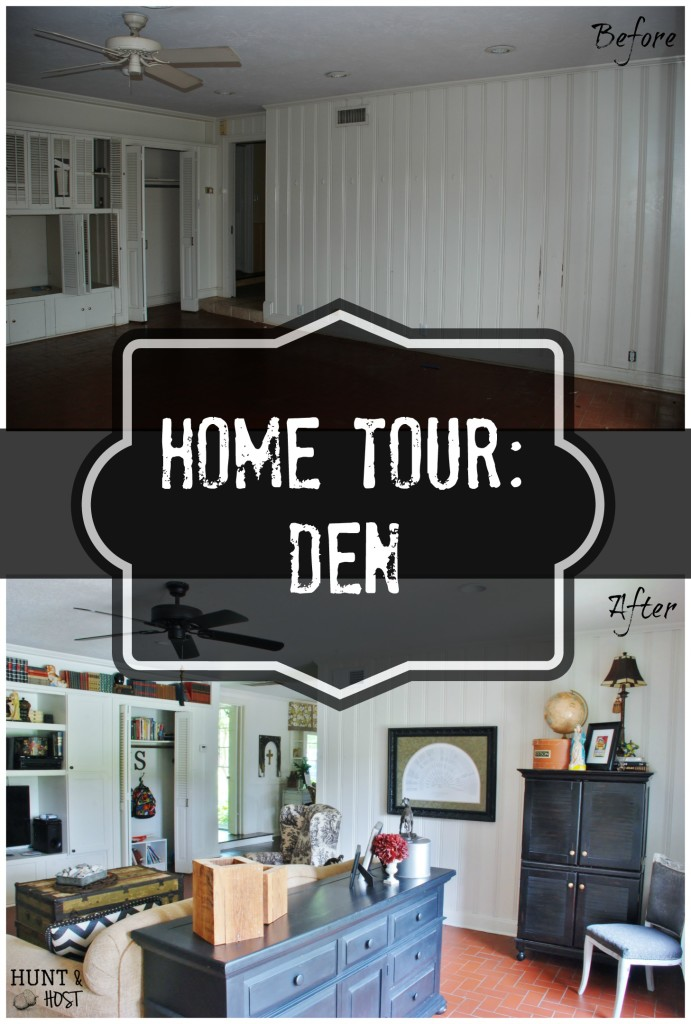 hunt and host home tour den