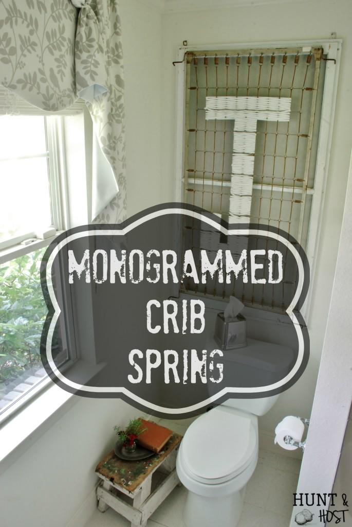 monogrammed crib spring