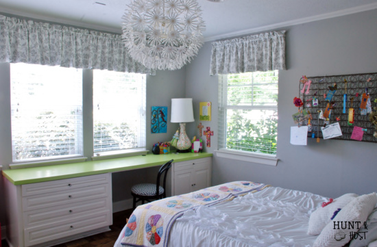 girl bedroom before an after