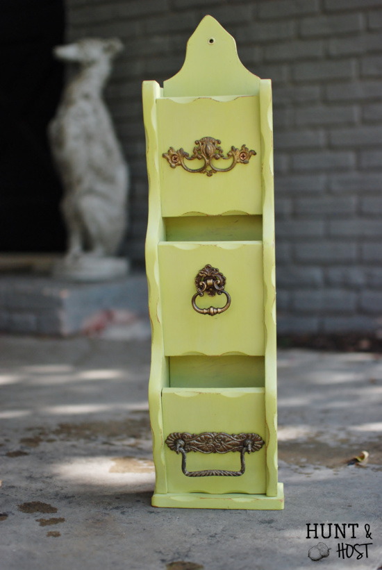 painted letter holder