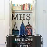 back to school organizing closet