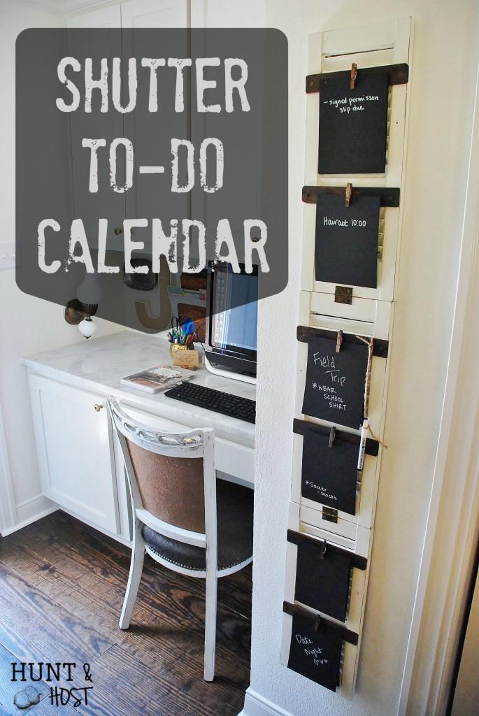 shutter to do calendar