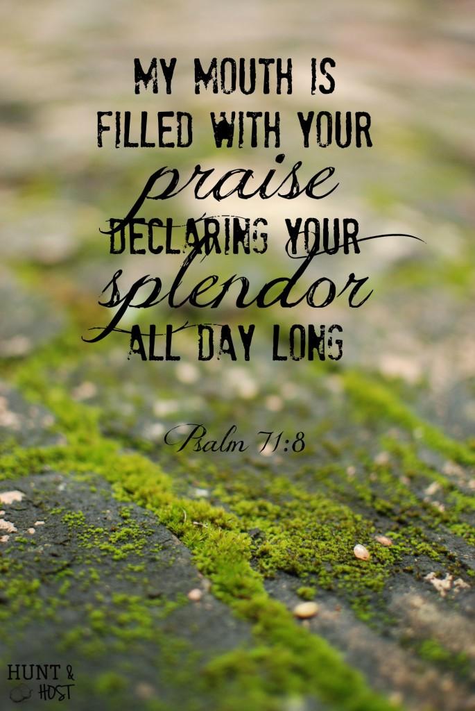 splendor psalm 71 8