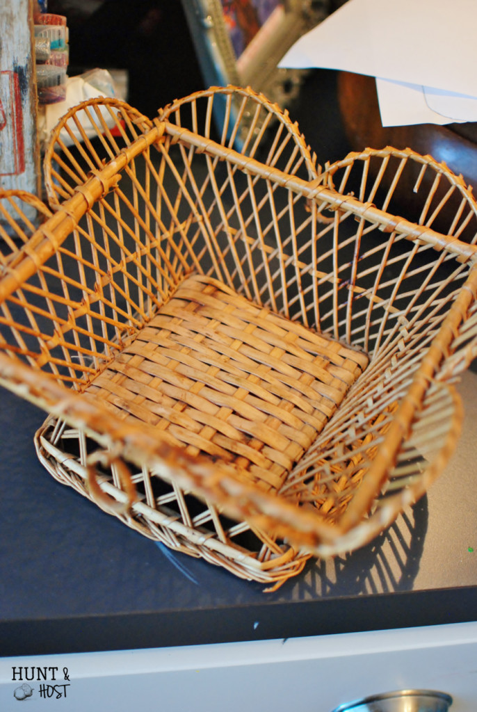trashed basket makeover