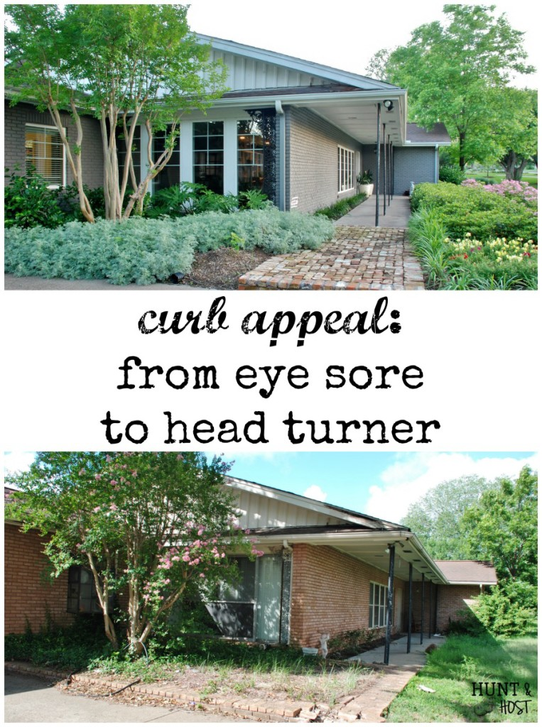 Curb appeal: From eye sore to head turner. This fixer upper got a front yard manicure you have to see. www.huntandhost.net