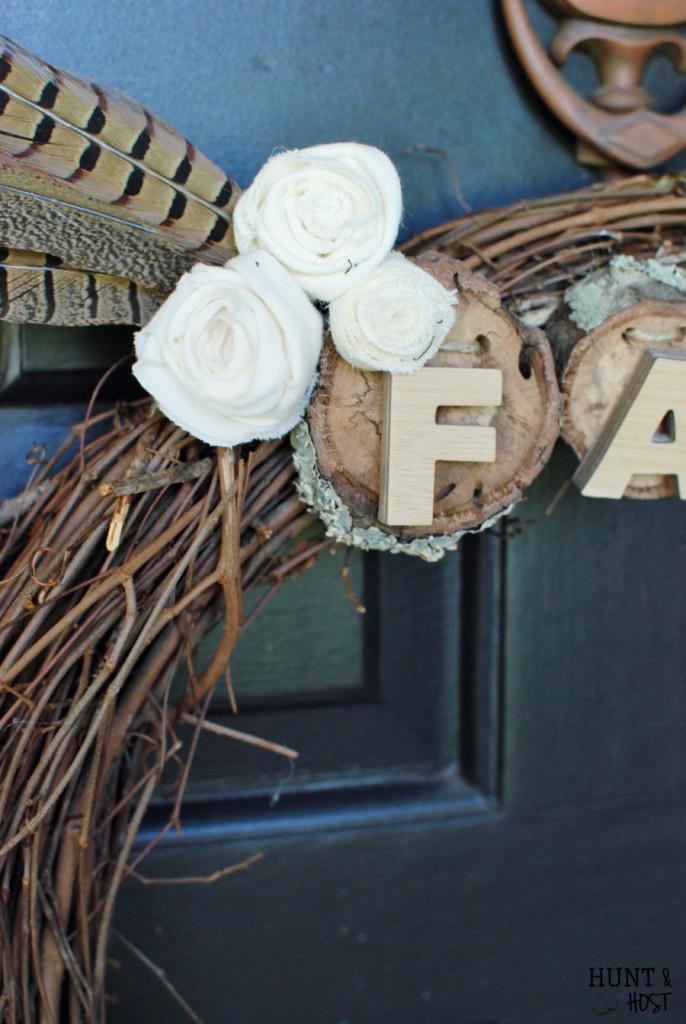 vintage necktie fall wreath
