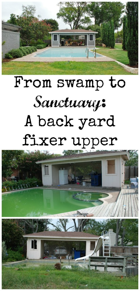 Watch this back yard transform from a swampy train wreck to an outside sanctuary. www.huntandhost.net