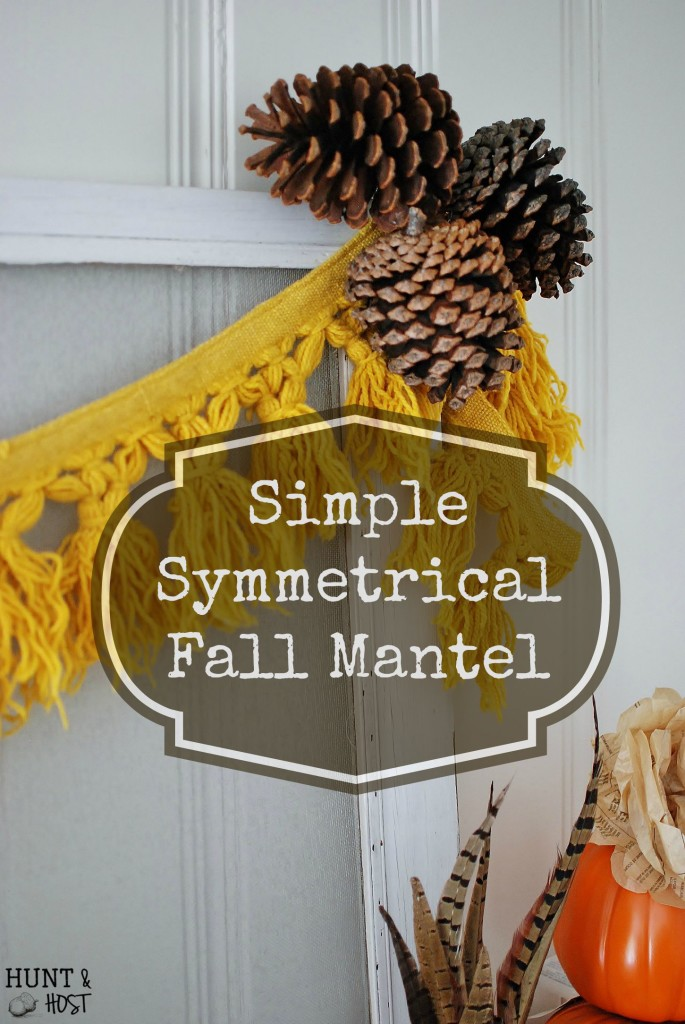 symmetrical vintage fall mantel