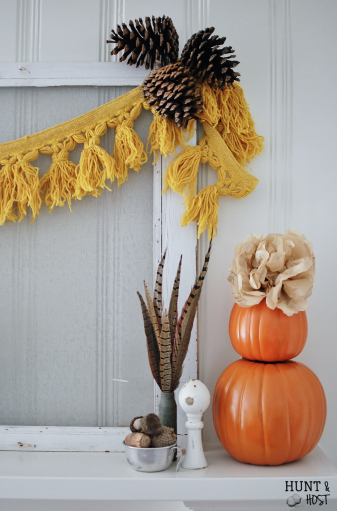 symmetrical vintage fall mantel psalm 139
