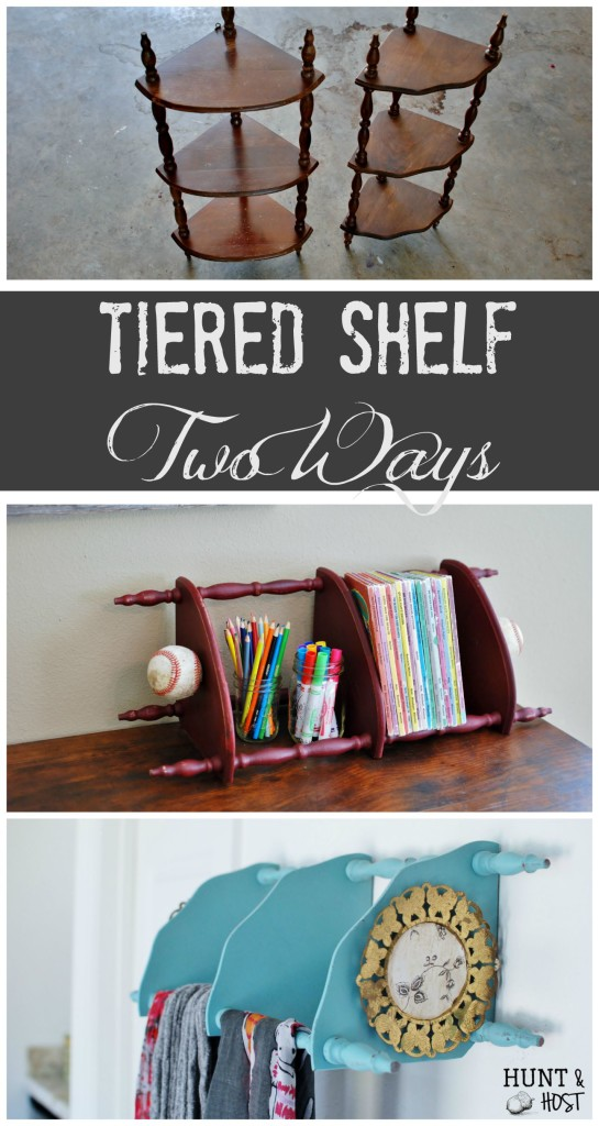 tiered corner shelf two ways