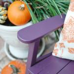 bold color choice Plum paint rockingchair makeover