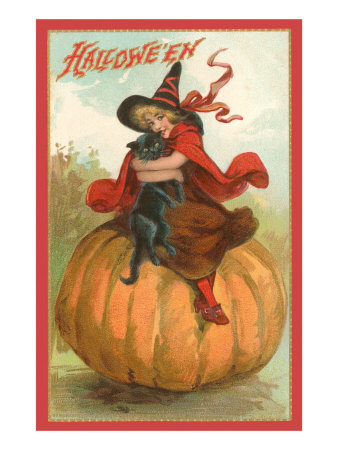 halloween-victorian-witch-on-pumpkin