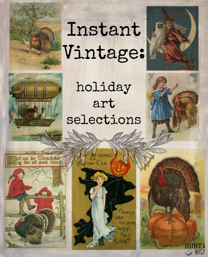 instant vintage holiday art selections huntandhost.net