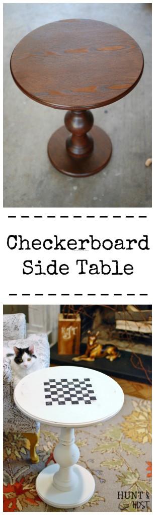 checkboard table huntandhost.net