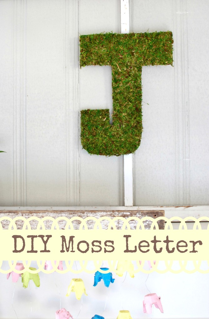 DIY moss letter tutorial