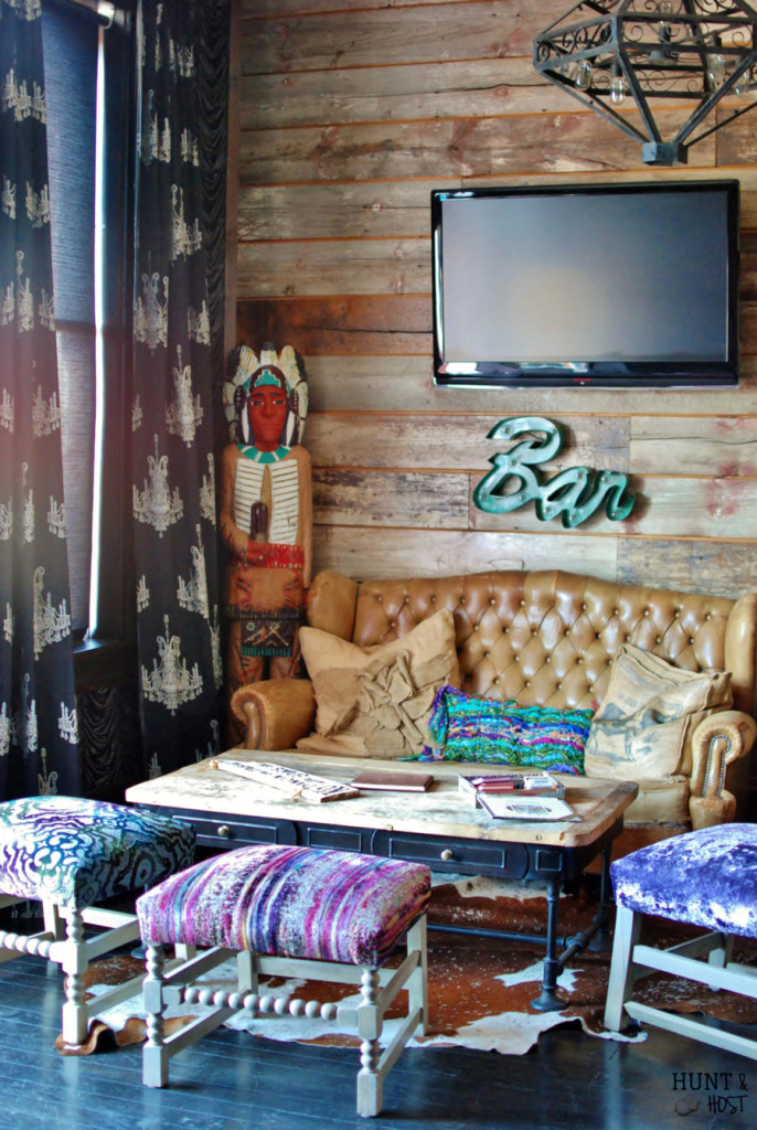 The Ladysmith, Miranda Lambert's rock-n-roll chic Bed & Breakfast hotel designed by Phara Queen is an amazing play on pattern and texture. Get The Ladysmith look at home, tips at www.huntandhost.net