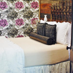 Get The Ladysmith Look: Miranda Lambert's popular Bed & Breakfast Hotel designed by Phara Queen. Get the lush, layered bed look details at www.huntandhost.net