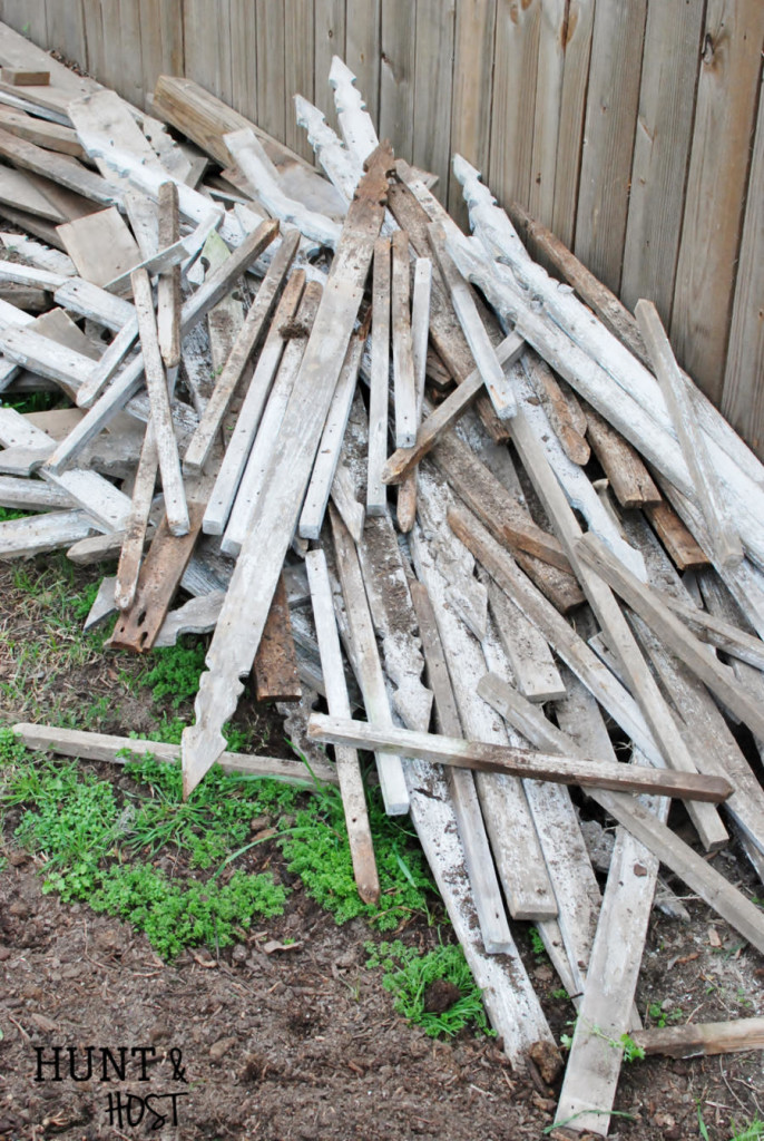 Old fence pickets for a million projects! www.huntandhost.net