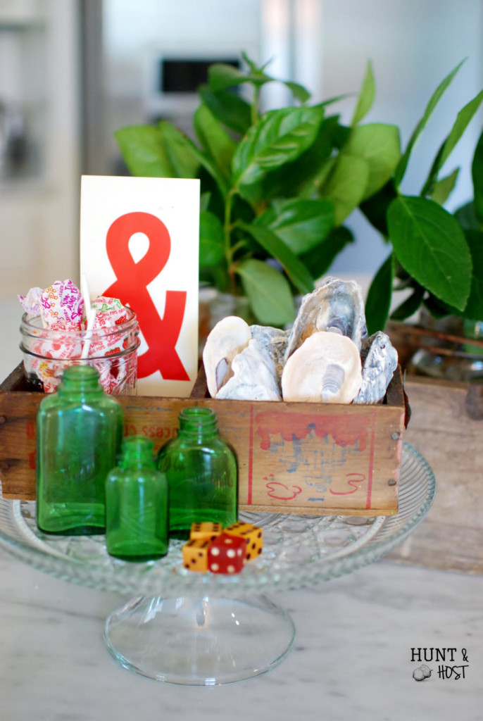 Little pretties that caught my eye while out thrifting lead to a summer vignette than will lighten your load. www.huntandhost.net