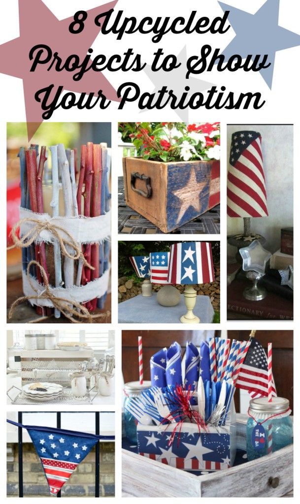 8 Upcycled Projects to show your patriotism www.huntandhost.net