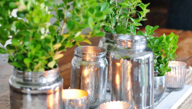 From grocery store to gorgeous. DIY home décor straight from your pantry. Start with this mercury glass makeover. www.huntandhost.net
