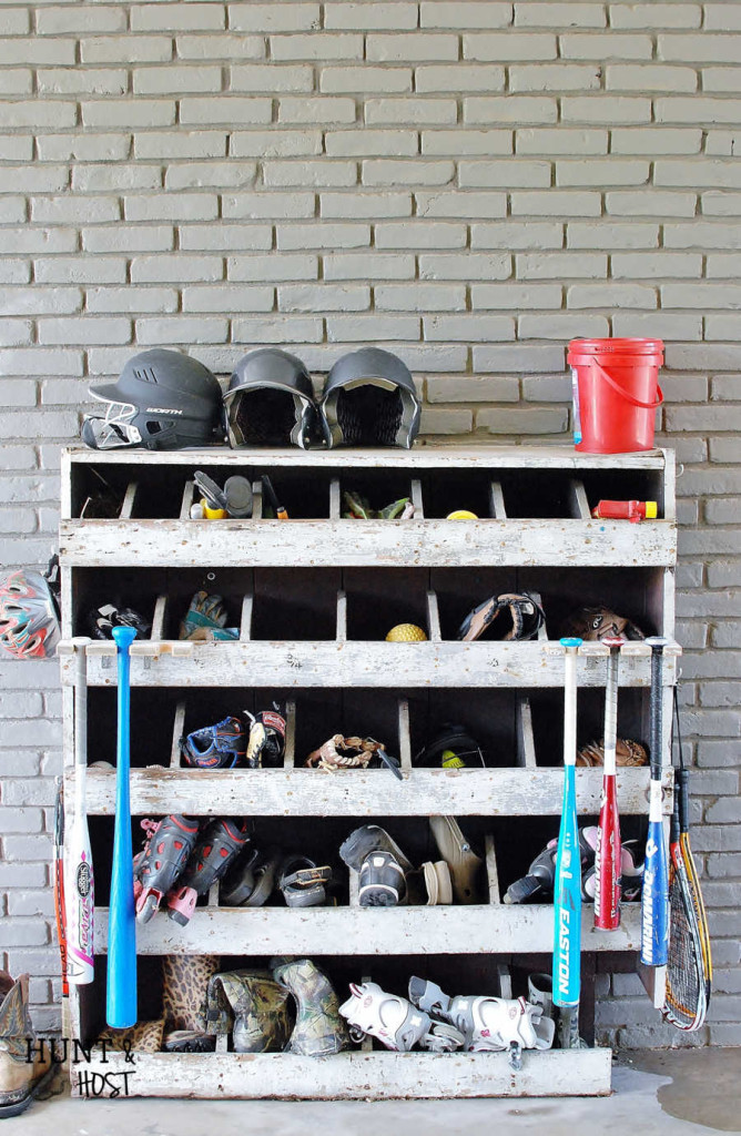 Use scrap wood to store all the baseball bats you have lying around with this handy DIY baseball bat rack!