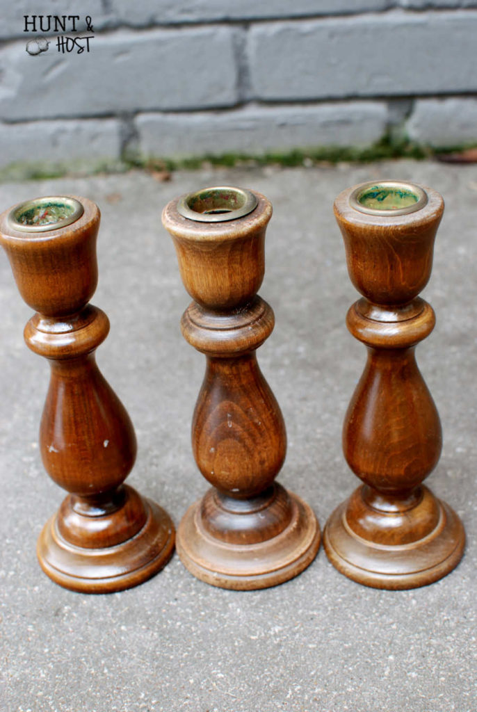 Mismatched thrifted finds turn into a perfect eyeglass holder. Great project for old wooden bowls and candlesticks.