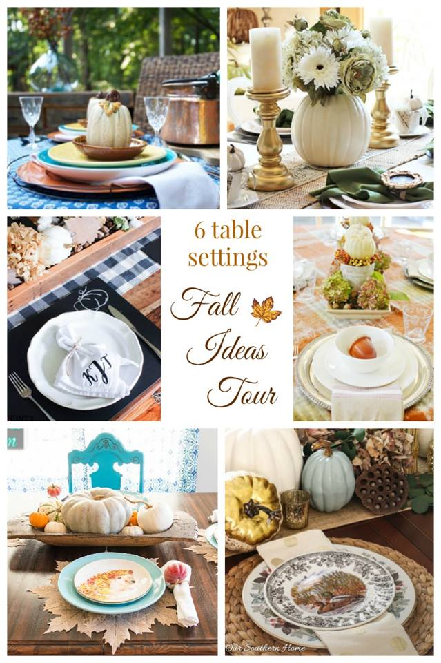 Fall Ideas Tour: Mantels, Tablescapes, Wreaths, Printables and Porches. Hunt & Host's DIY chalkboard placemat is a fun project for any time of the year!