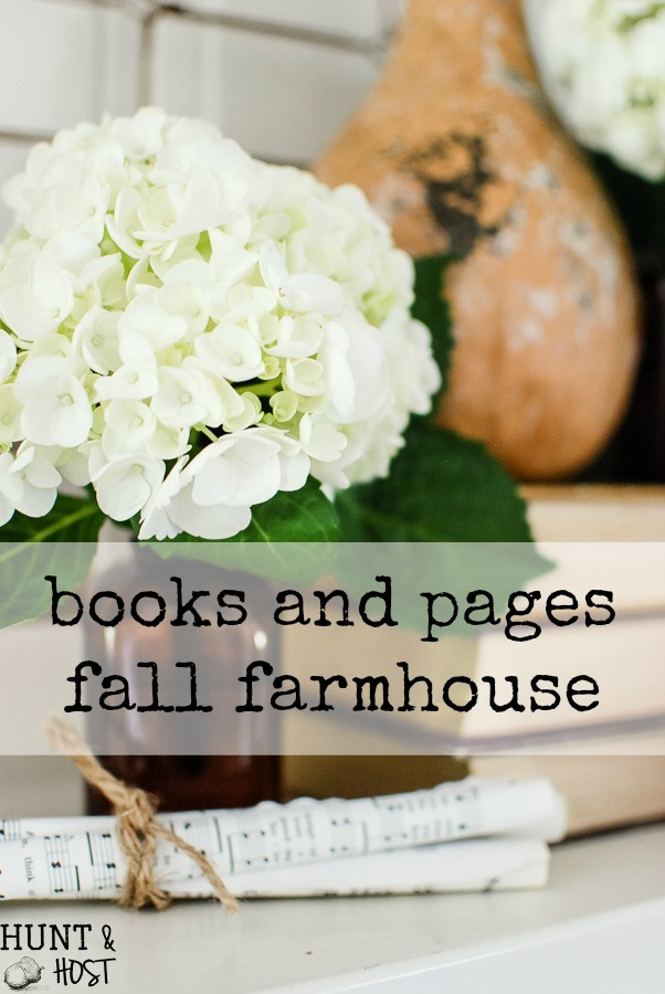 Eight different farmhouse homes to inspire you this fall. A cozy autumn home tour inspired by books and pages for Fall. Plus a free printable for a friend...You are my favorite book to read.