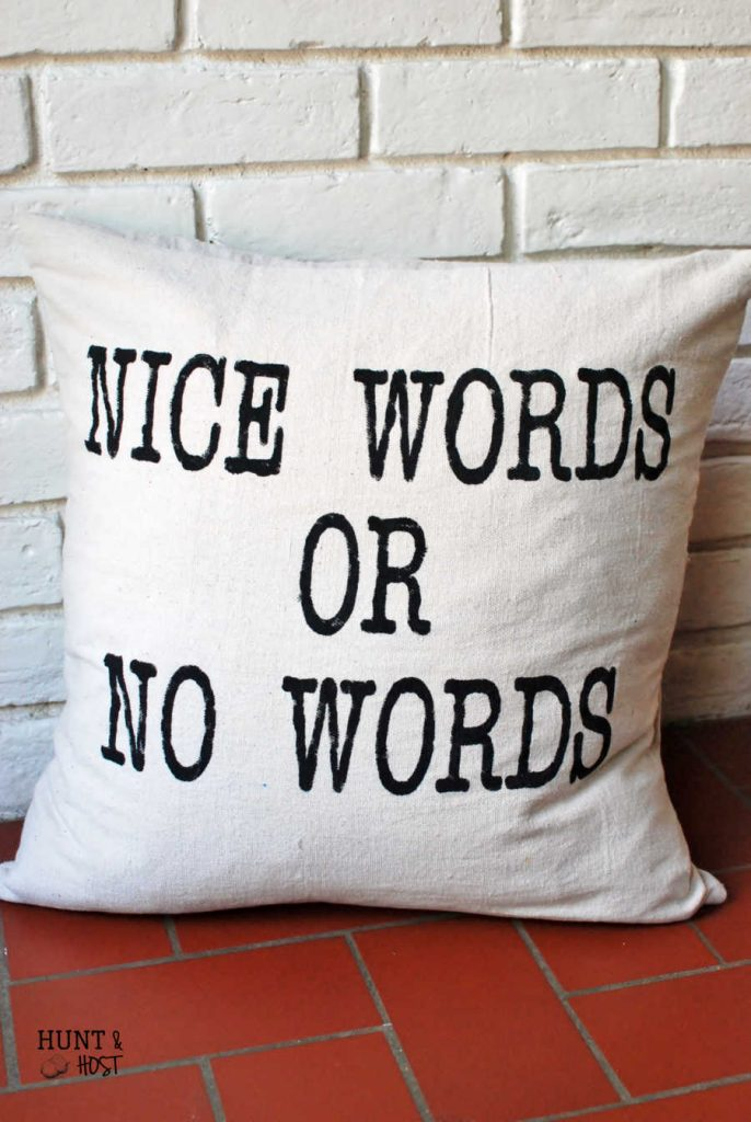 Nice Words or No Words Pillow Cover, the perfect gift!