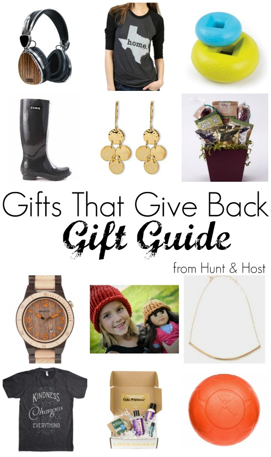 Gifts that give back. From buy one give one campaigns to supporting fair trade to helping economic stimulus for impoverished women needing jobs these companies have a mission that matters. Shop with a company that cares for your gift giving this holiday season.