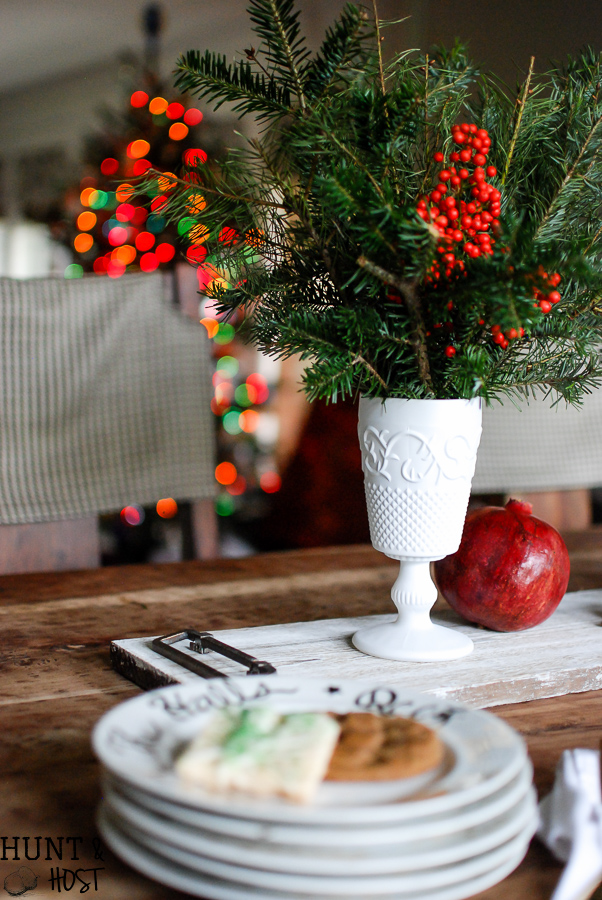 Never underestimate the dollar store. DIY milk glass tutorial to make a fabulous budget friendly centerpiece.