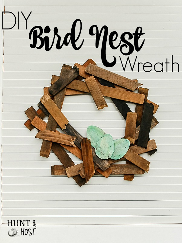 Turn an old shutter into a simple bird nest wreath to show off in your nest. Perfect spring inspiration inspired by our feathered friends!