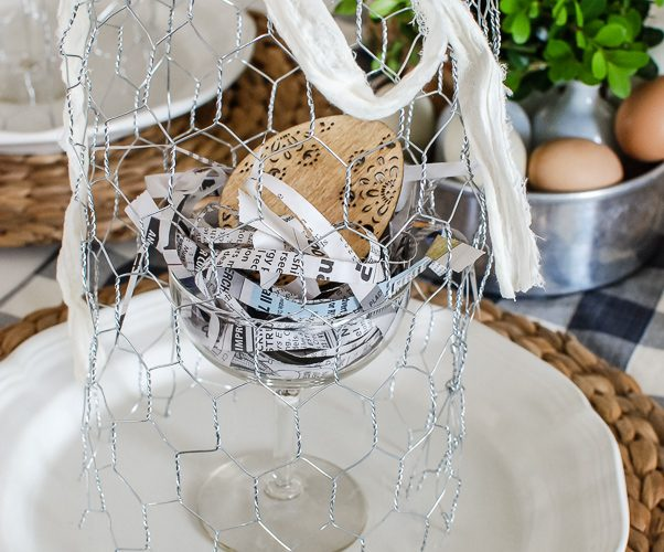 DIY Chicken Wire Cloche Tutorial Spring Table Ideas