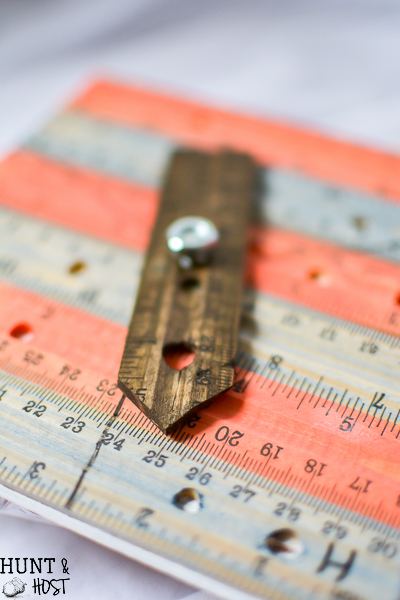 What a fun DIY from the dollar store, you have to see how she made wooden rulers into a solution for the kids fighting! And it's not a spanker ruler, lol!